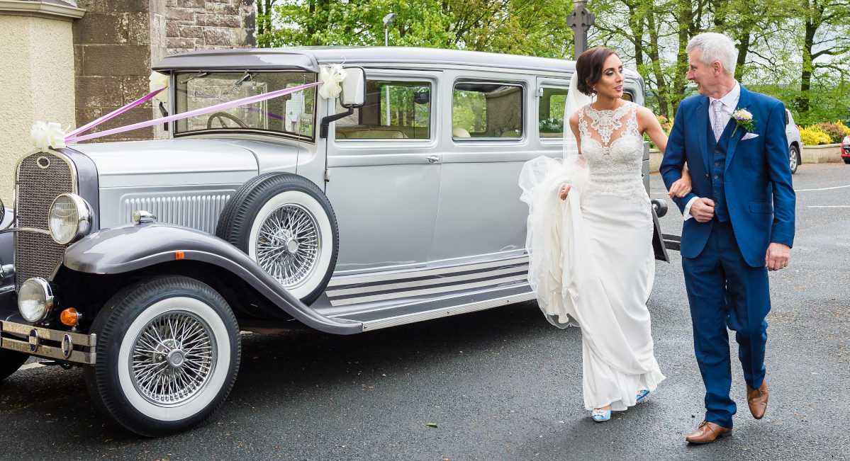 1920s Style Bramwith Wedding Limousine for wedding hire