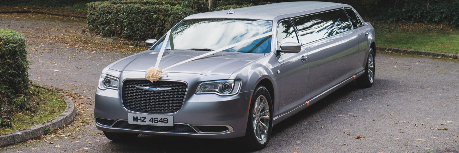 Chrysler Champagne Silver stretch wedding limousine