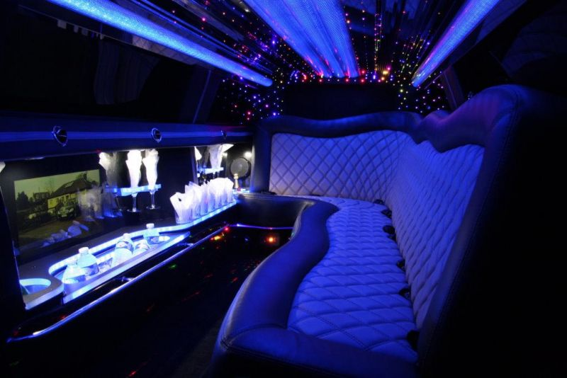Chrysler-Champagne-Silver stretch wedding limousine