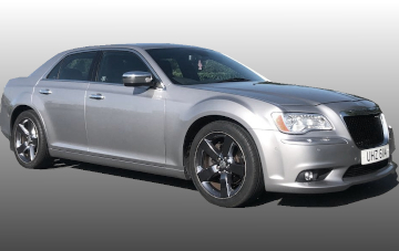 Chrysler Saloon-silver wedding car for hire
