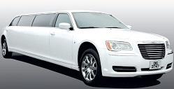 Chrysler 300 limousine (white)