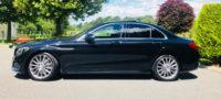 Mercedes C Class black wedding saloon