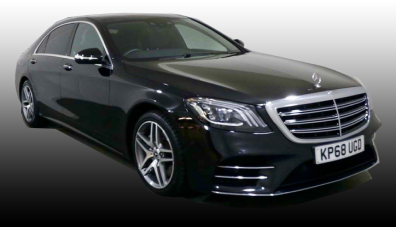 Mercedes-S350 Black saloon