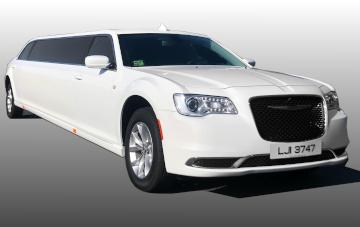 New Chrysler Stretch Limo - White