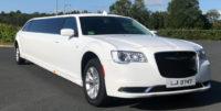 Latest Chrysler Limo wedding car for hire - white