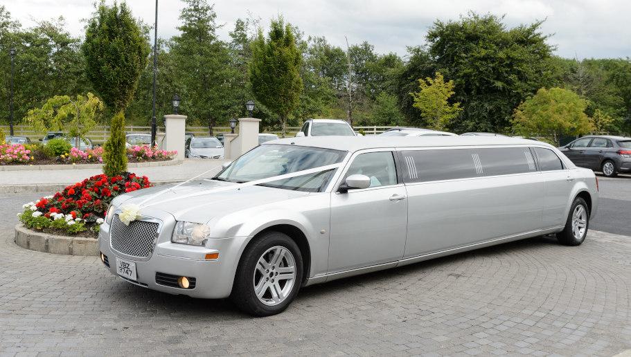 Chrysler Silver limo wedding car