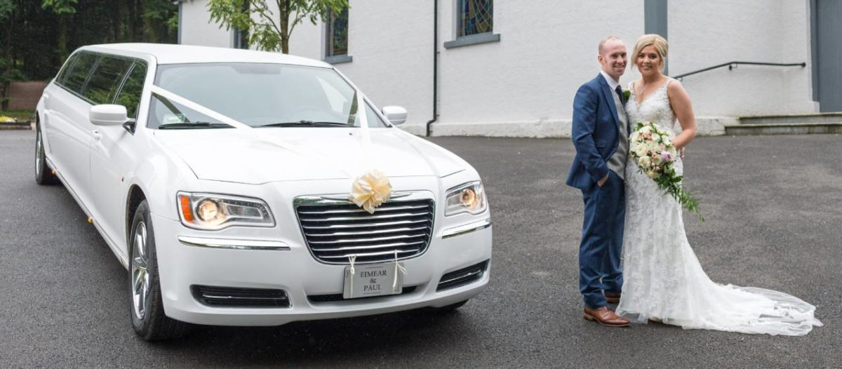 Chrysler Stretch Limo Wedding Car - White