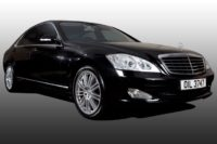 Black Mercedes S320 wedding car saloon