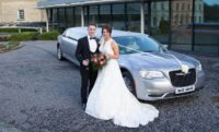 Champagne Silver Chrysler Limo wedding car for hire